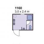 Sanitarni kontejner 1160