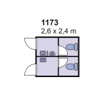 Sanitarni kontejner 1173