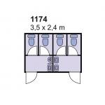 Sanitarni kontejner 1174